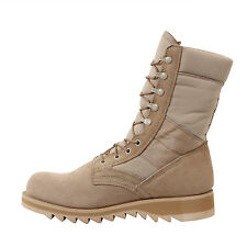 "boots GI type ripple sole desert tan jungle boot reg and wide 10"" rothco 5058"