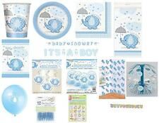 BABY SHOWER UMBRELLAPHANTS - BLUE BOY PARTY SUPPLIES GAMES DECORATIONS TABLEWARE