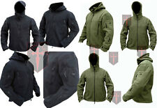 Black / Olive Green Fleece Recon Hoodie ( All Sizes unisex military design Warm
