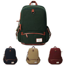 UNIHOOD Canvas Faux Leather Mens Rucksack Classic Backpack Bookbag Laptop Bags