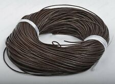 100% Real Genuine Leather Thong Cord- 1mm 2mm 3mm 4mm - Black or Brown.