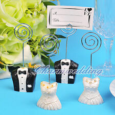 NEW 5/10/20 Pairs Bride & Groom Place Card Holders Wedding Party Favors U Pick
