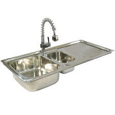 Reversible Stainless Steel Kitchen Sink 1.5 Drainer with FREE Tap & Plumbing Kit