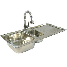 Reversible Stainless Steel Kitchen Sink Drainer with FREE Tap and Plumbing Kit