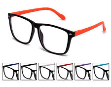 New Colored Frame Clear Lens With Spring Hinge Non Presciption Sexy Geek Nerd