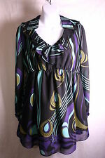 BISOU BISOU WOMENS MATERNITY DRESSY BLOUSE TOP MED AND LARGE MULT COLOR NWT