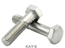 M8/8mm A2 Stainless Steel Part Threaded Hex Head Bolts Hexagon Screws, Kays