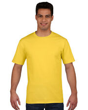 Mens Gildan Premium Ring Spun Cotton T-Shirt, Mens tshirts 20 Colours