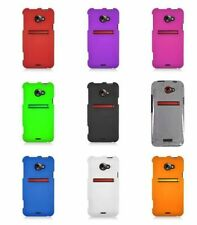 For HTC EVO 4G LTE Rubberized Hard Cover Snap On Case