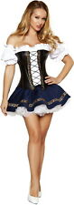 Sexy Women's Oktoberfest Swiss Beer Maid Outfit Adult Halloween Costume NEW