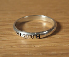 Wisdom Ring Sterling Silver Affirmation Waldeck WJ USA Made Jewelry Band Wise