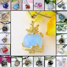 Fashion Natural Gemstone Gem Jewelry opal Bead Dragon Pendants For Necklace
