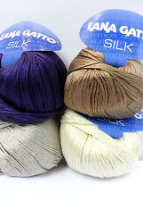 Lana Gatto SILK 100% Silk Soft touch knitting crochet  yarn-Italy