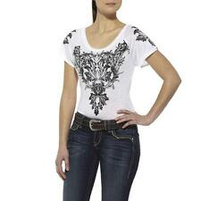 NEW with TAGS! 10011202 Ariat Womens Ansa Short Sleeve Top - White