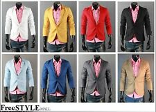 Stylish Mens Premium One Button Casual Slim Fit 8 Colors Blazers Suits Jackets