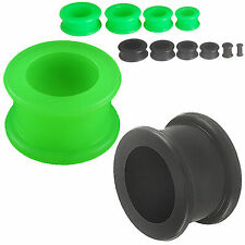 silicone ear stretchers expander kit tunnels plug double flared set 2 Pairs 9NNY