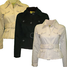 Miss Posh Blouson Fitted Ladies Safari Style Jacket With Belt Womens 100% Cotton