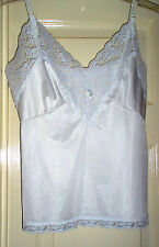 Women Cami Camisole Lace Size Small Med XLrg White Blue Black Nylon Vanity Fair