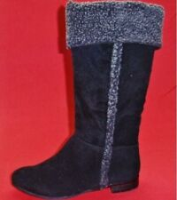 NEW Women's RAMPAGE CARISSA Black/Gray Knee High Tall Fashion Casual Dress Boots