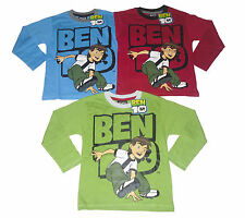 BOYS LONG SLEEVED TOP BEN 10 3 PACK 4-10 YEARS OLD