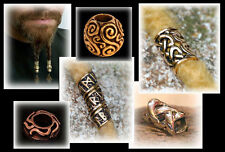 Viking bronce bead for braids + beards - ancient medieval celtic ren fair