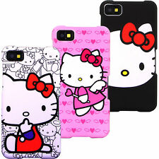 Case for Blackberry Z10 Hello Kitty AT&T T-Mobile Verizon Cover Skin Snap On