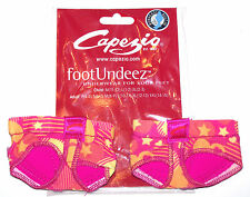 NIP New Capezio Jelz FootUndeez Shoe Foot Underwear Crush Star Heart Pink Adult