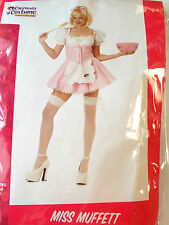 Miss Muffett Dress Adult Costume Small Large NIP
