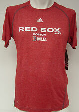 NEW Youth Boys Kids ADIDAS Clima Lite Boston RED SOX Red Baseball MLB Shirt