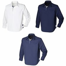 (Free PnP) Front Row Mens Long Sleeve Drill Rugby Polo Shirt 3 Colours Szs S-2XL
