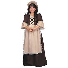 Colonial Girl Costume Kids Betsy Ross Martha Washington Halloween Fancy Dress