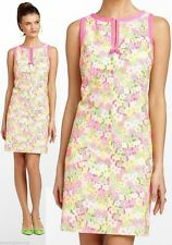 $238 Lilly Pulitzer Percy Multi Floral Sunbonnet Eyelet Lace Shift Dress