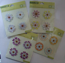 NEW 4 pc FLOWER SHAPED BRADS  * Your Choice Color * STUDIO 112  K & CO Brads