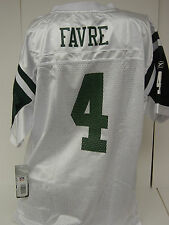 NEW Kids Youth Boys REEBOK Brett FAVRE #4 NY JETS White NFL Football Jersey