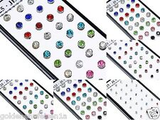 Strass Ohrstecker 2,3,4,5,6mm  Damen Kinder Herren TOP Silber Ohrringe