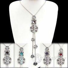 Buy 2 Get 1 Free,  Coloured Glaze Silver Plated Alloy Necklace XC653