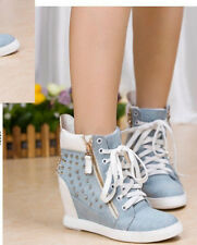 2013 hot woman Fashion Handsome Rivets  On Hidden Wedge Sports and leisure shoes