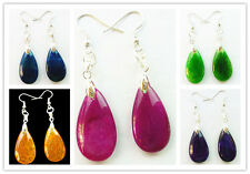 YIYI-6 Exquisite Dragon Veins Agate Earrings 1or6pcs