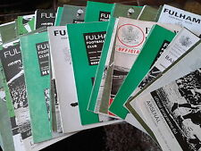 Fulham HOME programmes 1960's A-L choose from list FREE UK P&P