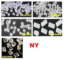 NY SELLER - 100 Earring Backs Holders Stoppers Rubber