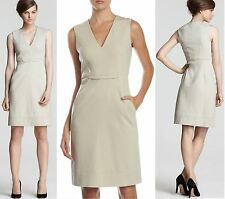 $375 Diane Von Furstenberg DVF Alois Knit Suiting Sheath Sleeveless Ash Dress 14
