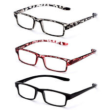 3 Pack Spring Hinge Wrap Around Reading Glasses Wraps Around Neck Readers
