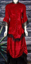 "FRONTIER CLASSICS Victorian ""NEW"" Red Velvet Ensemble Steampunk Dickens"