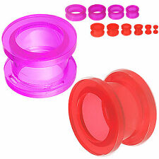 Bulk ear tunnels 8mm piercing gauge plugs stretcher stretching kit 2 Pairs 9LZY