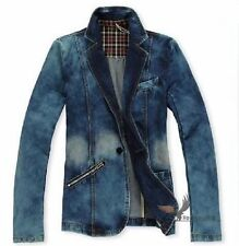 2013 new fashion men's spring clothing cultivate one's morality denim jacket q54