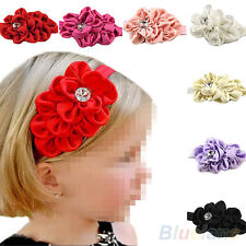 Fashion Cute Baby Girls Big Head Flower Chiffon Headband Hairbow Hairband BD4U