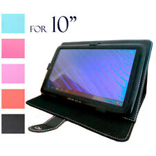 Protector pu leather Carry Case Skin Cover Folio Jacket For 10 10.1 inch Tablet