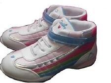 Girls Shoes Grosby Hi Top Velcro Sneaker White/ Rainbow Multi Size 10 or 11 New