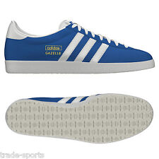 ADIDAS ORIGINALS MENS GAZELLE OG BLUE/WHITE UK SIZE 8 10 11 SHOES TRAINERS