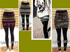 Super Hot Casual Fall/Winter/Spring Women Legging/Tight w. Attached Skirt Pant